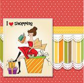 Woman shopping — Stock Vector