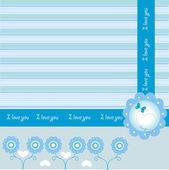 Borboleta cartão — Vetorial Stock