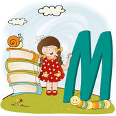 Children alphabet letters — Stock Vector