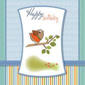 Card with funny bird — Stock Vector
