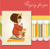 Little girl praying — Stock Vector