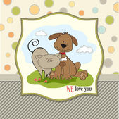 Dog and cat's friendship — Stock Vector