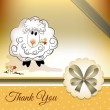 Stock Vector: Thank you card