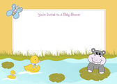 婴儿淋浴公告 — 图库矢量图片
