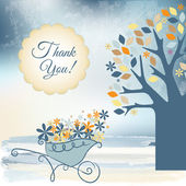 Thank you card — Stock Vector