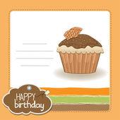 Cupcakes di buon compleanno — Vettoriale Stock