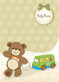 Card with teddy — Stockvektor