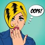 漫画风格的可爱复古女人 — 图库照片 #39907501