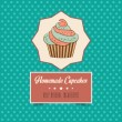Vintage homemade cupcakes poster — Stock Vector #40557465