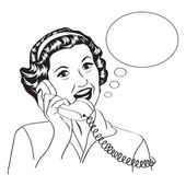 Popart comic retro woman talking by phone — ストックベクタ