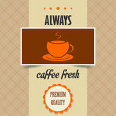 Vintage coffee poster — Stock Vector