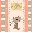 Card with cat — Vetorial Stock #40607891