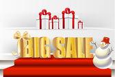 Big sale luxury gold sign — Stock Vector