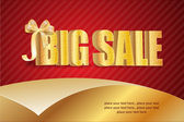 Big sale luxury gold sign — Stock Vector