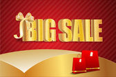 Big sale luxury gold sign — ストックベクタ