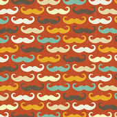 Pattern with mustache — ストックベクタ