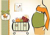 Invitación ducha bebé — Vector de stock
