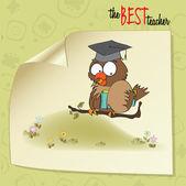 Owl Teacher in vector format — Stock Vector