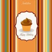 Birthday cupcake — Stock Vector