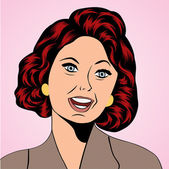 Pop Art illustration of a laughing woman — Cтоковый вектор
