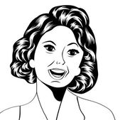 Pop Art illustration of a laughing woman — Vetorial Stock