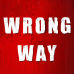 Old Wrong Way Sign — Stock Vector