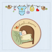 New baby boy arrived — Stock Vector