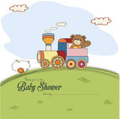 Baby shower card with teddy bear — Stock Vector