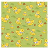 Seamless background with  rubber duck — Stock Vector