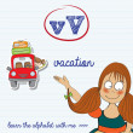 Alphabet worksheet of the letter v — Stock Vector #43740395