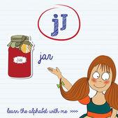 лист алфавите буквы j — Cтоковый вектор