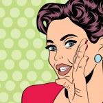 Pop art retro woman in comics style — Stock Vector #44244297