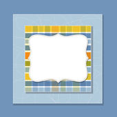 Cool template frame design for greeting card — Stock Vector