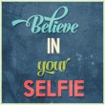 """Calligraphic  Writing """"Believe in your selfie"""" — Stock Vector #48226957"""