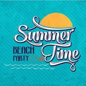 "Calligraphic  Writing ""Summer time - beach party"" — Vecteur"