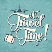"Calligraphic  Writing ""It's Travel Time"" — Stok Vektör"