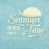 "Calligraphic  Writing ""Summer time - beach party"" — Stockvector"