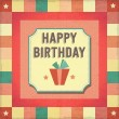 Vintage retro happy birthday card — Stock Vector #51265961