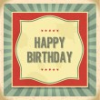 Vintage retro happy birthday card — Stock Vector #51265965