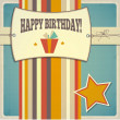 Vintage retro happy birthday card — Stock Vector #51266329