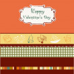 Vintage valentine's day card — Stock Vector #5382460