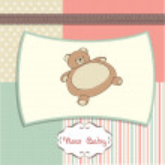 Greeting card with teddy bear — Stock Photo #7994952
