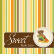 Sweet little baby. Greeting card. — Stock Photo #8063070