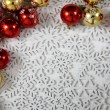 Easy christmas background from snowflakes  — Stock Photo