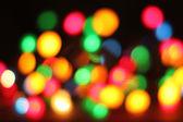 Abstract color christmas lights — Stock Photo
