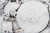 Data (hard drive in the snow) — Stock Photo