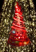 Christmas tree from xmas lights — Stock Photo