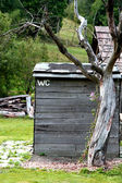 Toilet on the czech farm (WC) — Stock Photo
