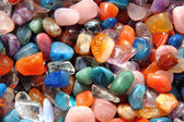 Gemstones background — Stock Photo