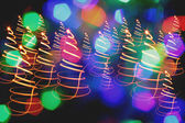 Christmas background from the color lights — Stock Photo